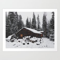 Winter Cabin Art Print