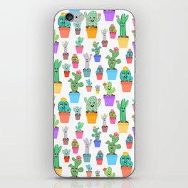 Sunny Happy Cactus Family iPhone Skin
