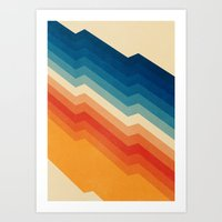 stripe Art Prints featuring Barricade by Tracie Andrews