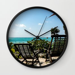 Tulum Chairs Wall Clock