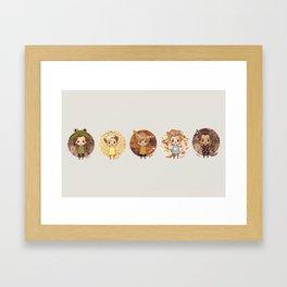 Button Direction Framed Art Print