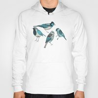 birds Hoodies featuring pale green birds by Polkip