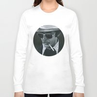 hunter s thompson Long Sleeve T-shirts featuring Hunter S. Thompson on vinyl record print by Eric Popp