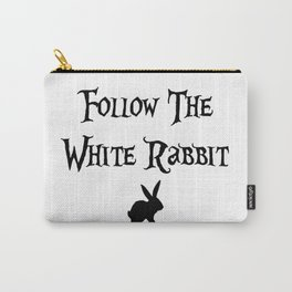 Follow The White Rabbit, Alice Carry-All Pouch