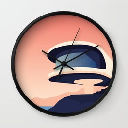 Soviet Modernism: Writers' Resort in Sevan, Armenia Wall Clock