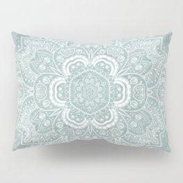 Mandala Temptation in Rustic Sage Color Pillow Sham