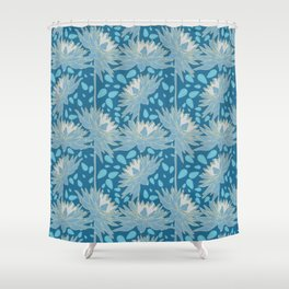 Nightdahlia with leaves Shower Curtain