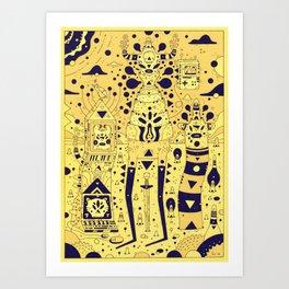 banana squad Art Print