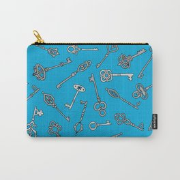 Skeleton Keys Blue Carry-All Pouch