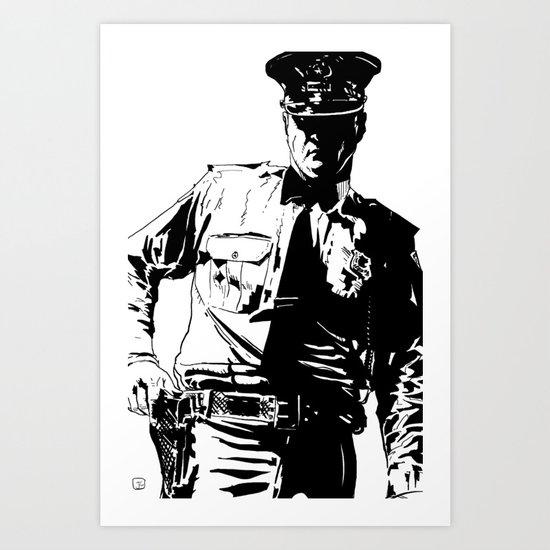 Guard with gun Art Print