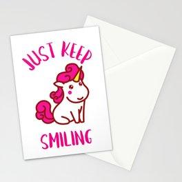 UNICORN JUST KEEP SMILING Stationery Cards