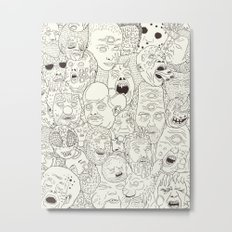 Faces of Math (no color edition)  Metal Print