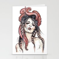 octopus Stationery Cards featuring Octopus by Nora Bisi