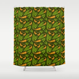Koi Pond Pattern Shower Curtain