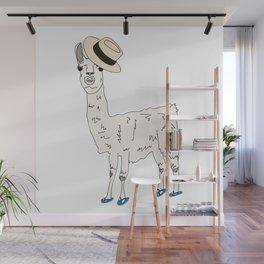 Bahama Llama Wall Mural