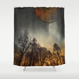 when the moon was young Shower Curtain