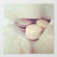 macaroons Canvas Prints featuring Macaroons by Maria Higson
