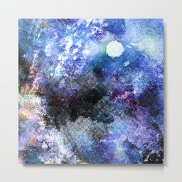 Winter Night Orchard Metal Print