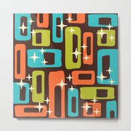 Retro Mid Century Modern Abstract Pattern 632 Metal Print