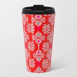 Stella in Red Pattern Metal Travel Mug