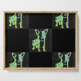 Neon French Bulldog Serving Tray