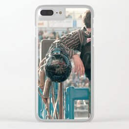 Cowboy Prayer At The Rodeo Clear iPhone Case