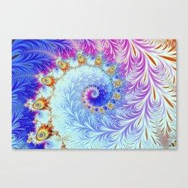 Pink Ice Spiral Fractal Canvas Print