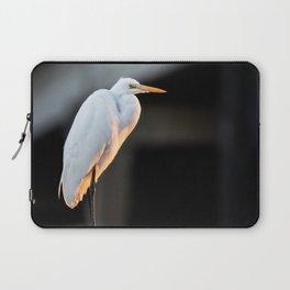 Great Egret at Sunset Laptop Sleeve