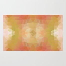 Warm geometric design Rug