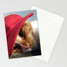 Cute Cat Wearing Red Cap Stationery Cards