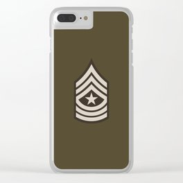 Sergeant Major (Brown) Clear iPhone Case
