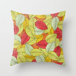 Let the Leaves Fall #10 Throw Pillow
