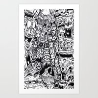 evil Art Prints featuring Evil by Minus Tyler