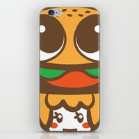 pagan iPhone & iPod Skins featuring Pagan Burger by Pagan Holladay