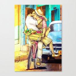 Cuba Kiss Canvas Print