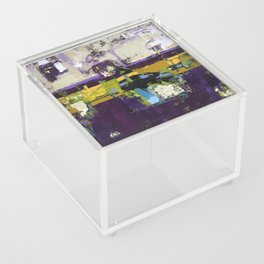 Controversy Prince Deep Purple Abstract Painting Modern Art Acrylic Box