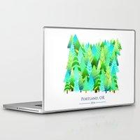 portland Laptop & iPad Skins featuring Portland by Maura McGonagle