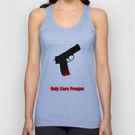 A Bloody Gun - Only Liars Prosper Unisex Tank Top