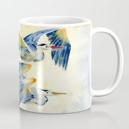 Flying Together - Great Blue Heron Coffee Mug