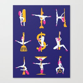 Strippers Canvas Print