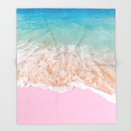 PINK SAND Throw Blanket