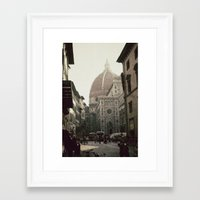 florence Framed Art Prints featuring Florence by poki4