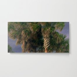 Palm Trees, Stormy Weather Metal Print