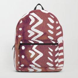 Loose boho chic pattern - purple brown Backpack