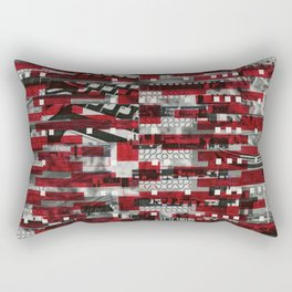 Nothing Is Accomplished (P/D3 Glitch Collage Studies) Rectangular Pillow
