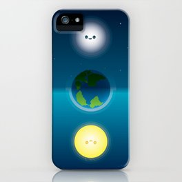 Happy Sun & Moon iPhone Case