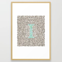"""I"" Eye Test Full Framed Art Print"