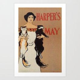 Harper's May 1898 Art Print