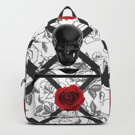 Skull And Rose Toile Backpack
