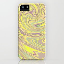 YELLOW FANCY iPhone Case